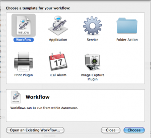 Automator Template Chooser