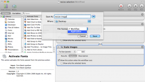 Save Automator Workflow As Application