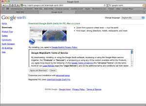 Google Earth Download Page