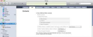 iTunes iPhone Info Tab